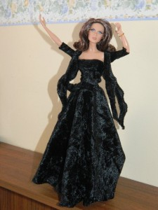 Octopussy in blach gown
