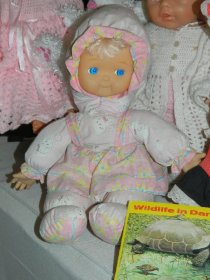 The little doll Hubby found in an elevator.