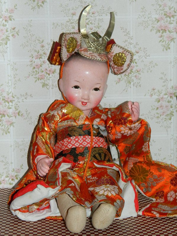 Chinese cloth doll with hard head