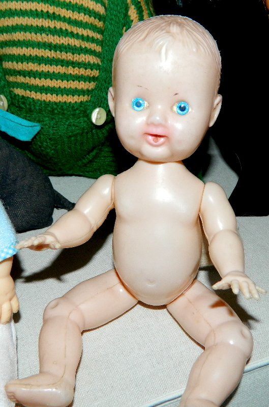 Another baby doll who was probably made by Kader or Evergreen.