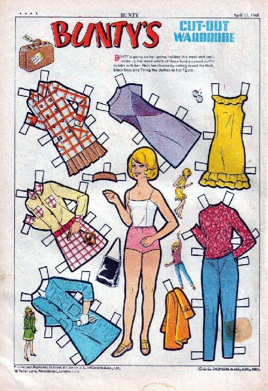 Bunty's Cut Out Wardrobe 13/4/1968 courtesy of Alex Beesley
