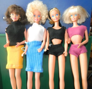 image dressed Barbies
