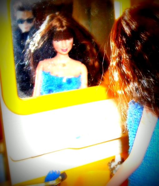 image Barbie at mirror