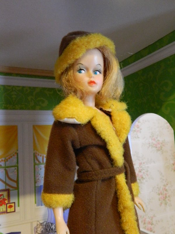 American Character Tressy in vintage coat and hat.