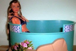image Fashion Fever Barbie in spa pool.