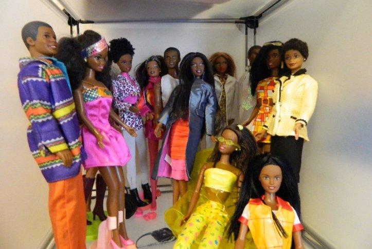African American Barbie and Ken group