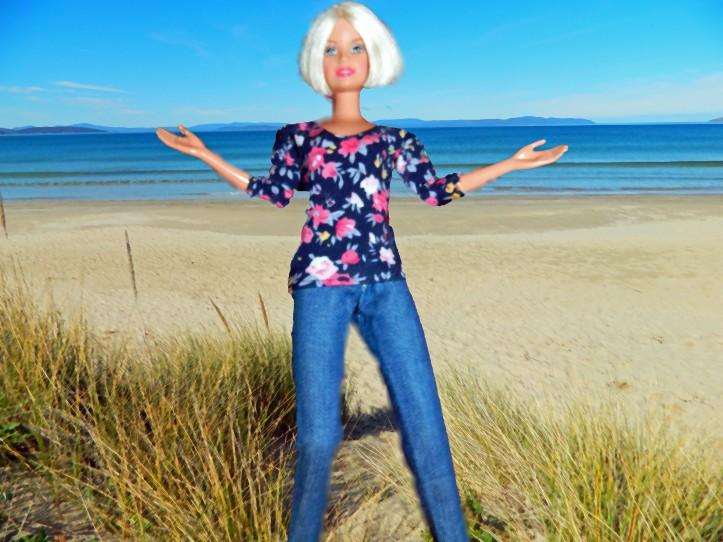 Midge at Seven Mile Beach, Tasmania