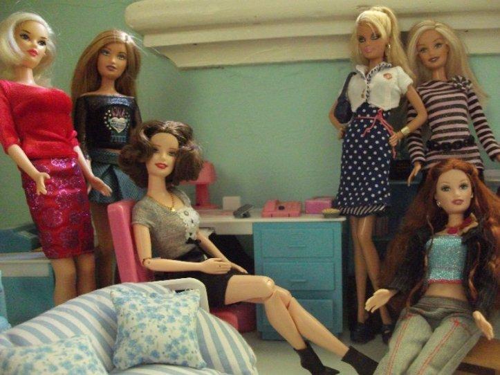 Office staff Pam, Julie (sitting), Beverly, Hayley,