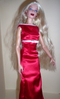 Creanna in Barbie for President gown.