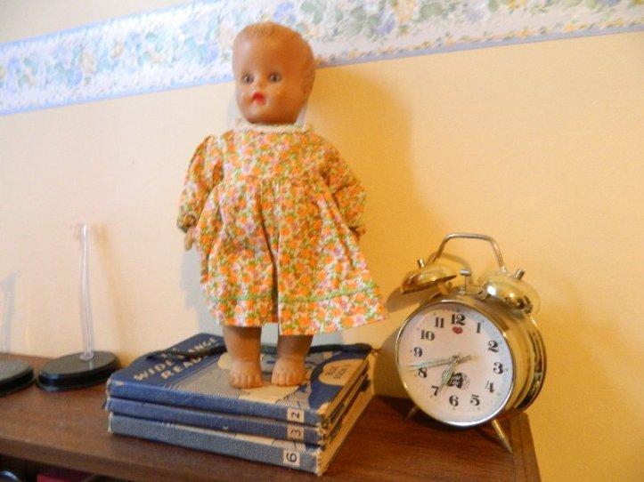Old vinyl doll