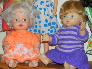 Baby Alive will be staying even though she has white hair.
