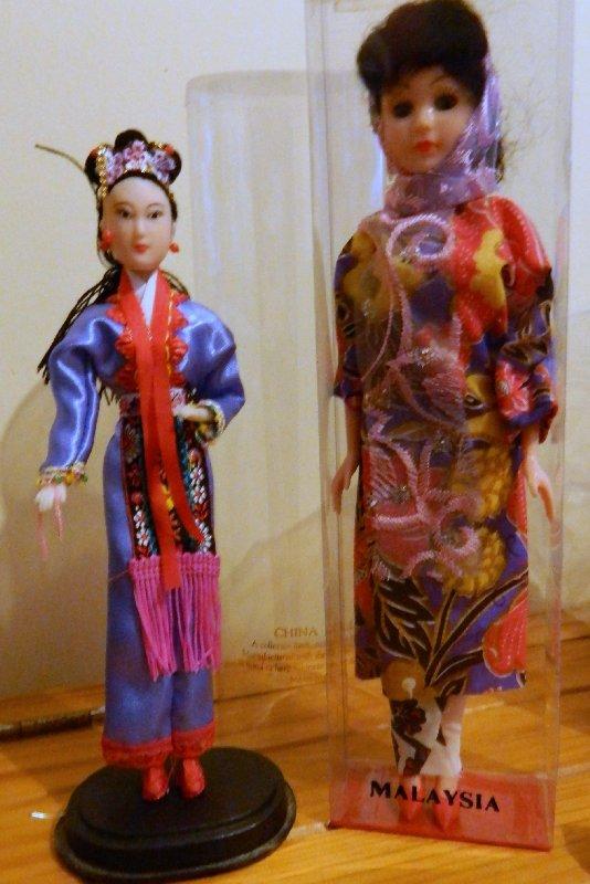 Costume dolls from Singapore and Kuala Lumpur, Malaysia