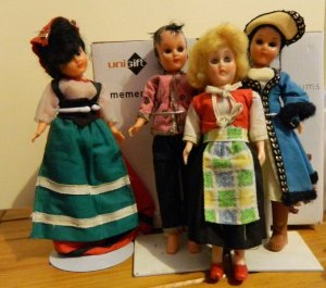 Childhood dolls in I think costumes from Italy, China, Sweden and Russia