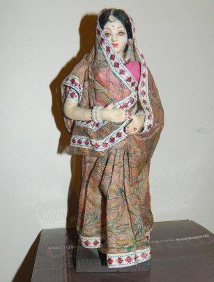 Lady in a sari