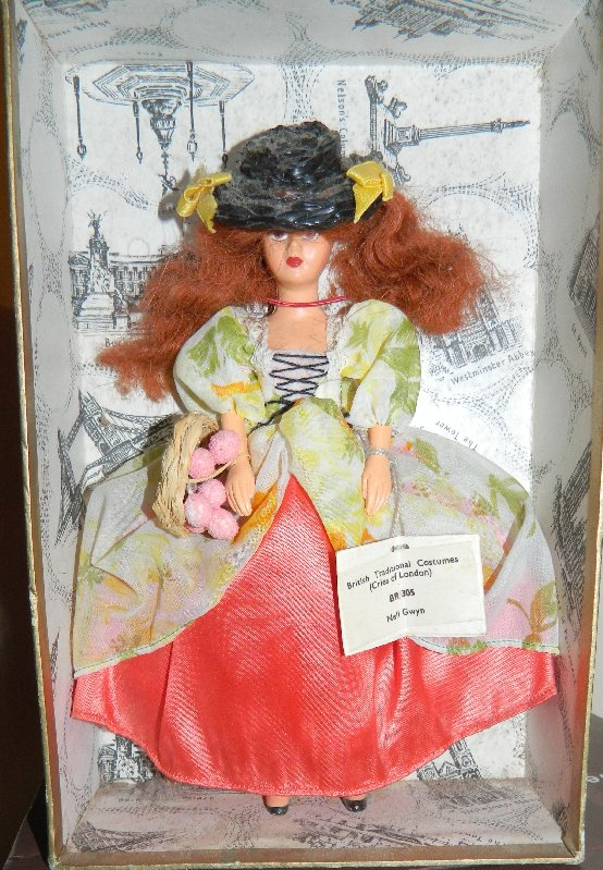 Nell Gwynne doll with swing tag.
