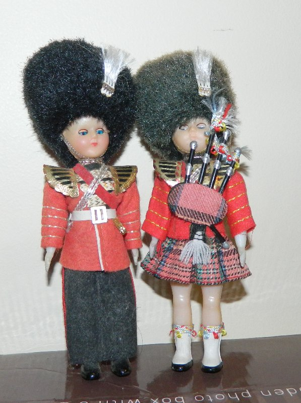 Guardsman and Scottish Guards dolls.