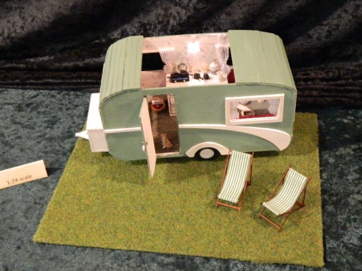 I liked this model of a caravan complete with cat.