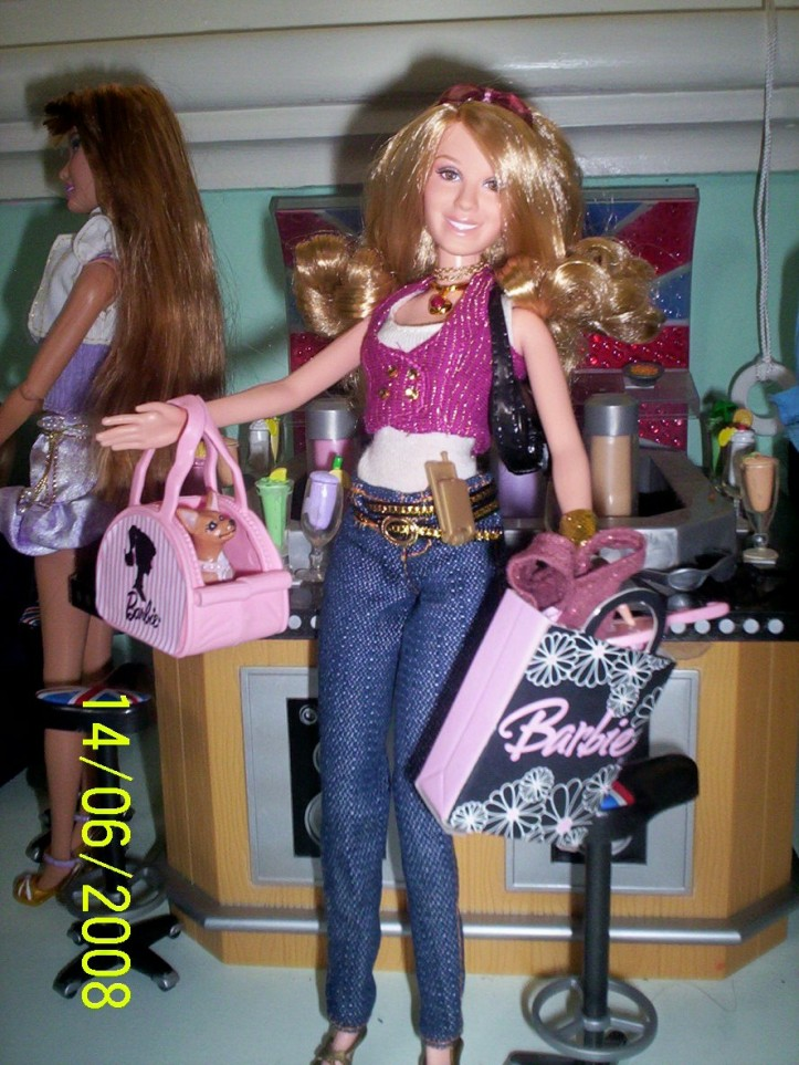 Hillary Duff Barbie with accessories.