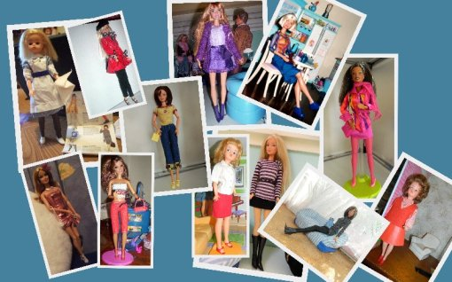 Fashion Dolls in a variety of shoe styles.