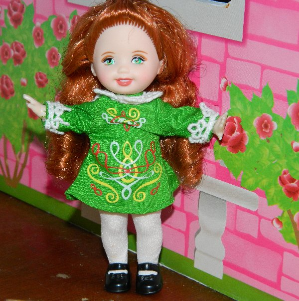 Kelly in Irish costume.