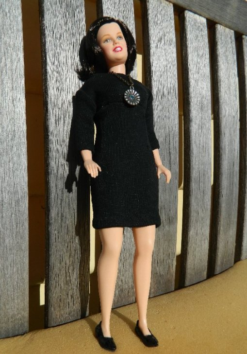 Rosie O'Donnell modelling her new dress and shoes.