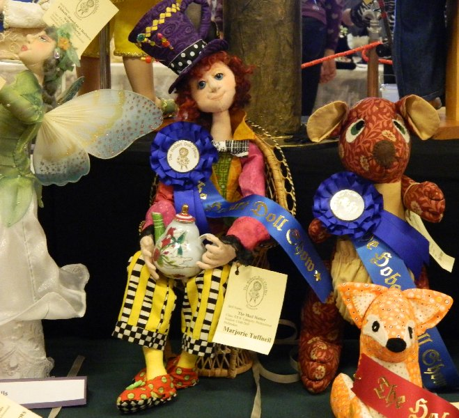 Prize winner in the Cloth Dolls Fantasy category.