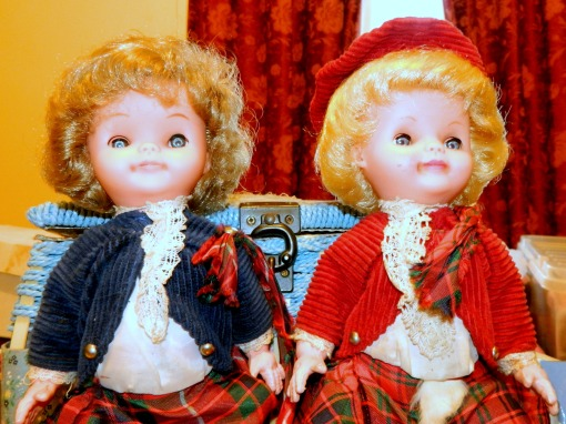 These two dolls belonged two my sisters in law.