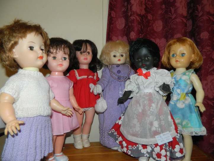 A group of 14 inch vinyl dolls made by or for British doll companies.