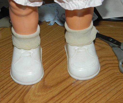 Her feet close up.
