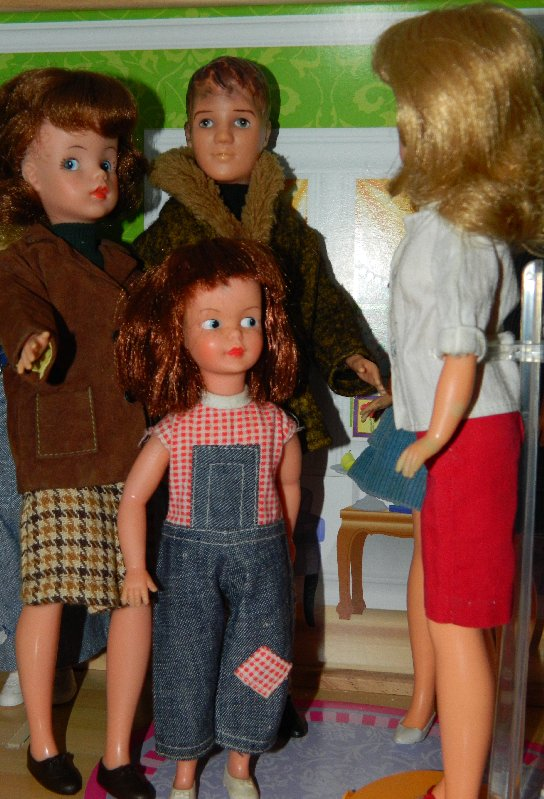 Trixie(my childhood Sindy) Paul and Patch meet Tammy (my original doll)
