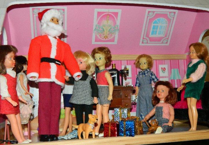The children are thrilled when Santa arrives.