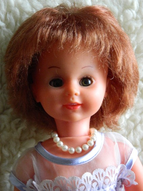 Hard plastic doll after her shampoo.