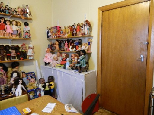 The doll room before I started moving things.