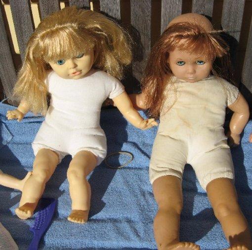 Valerie and Elizabeth enjoying the sunshine.