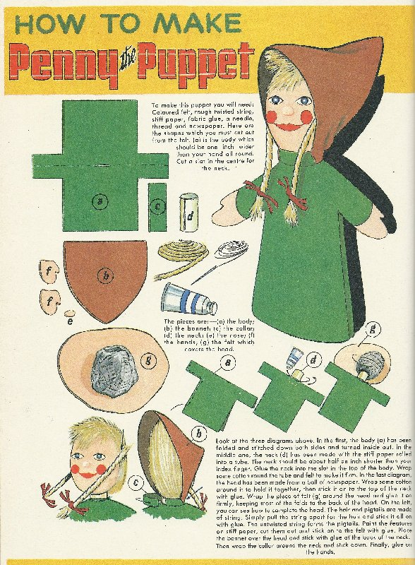 How to make  a puppet.
