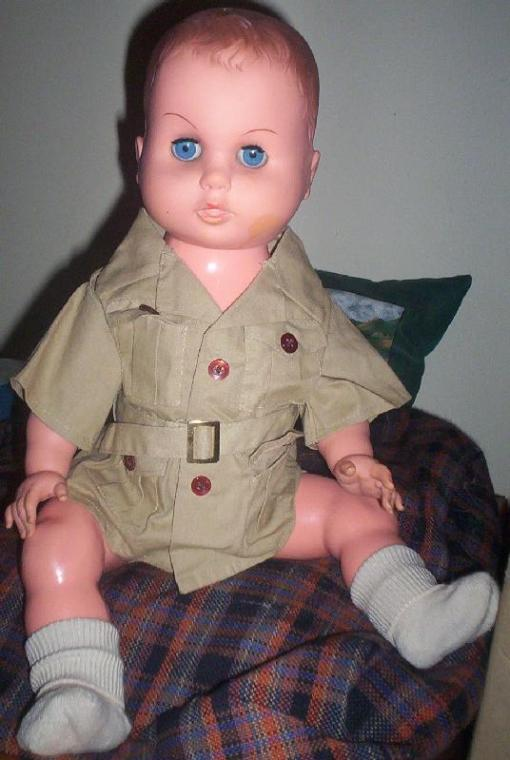 Stevie in his safari suit.