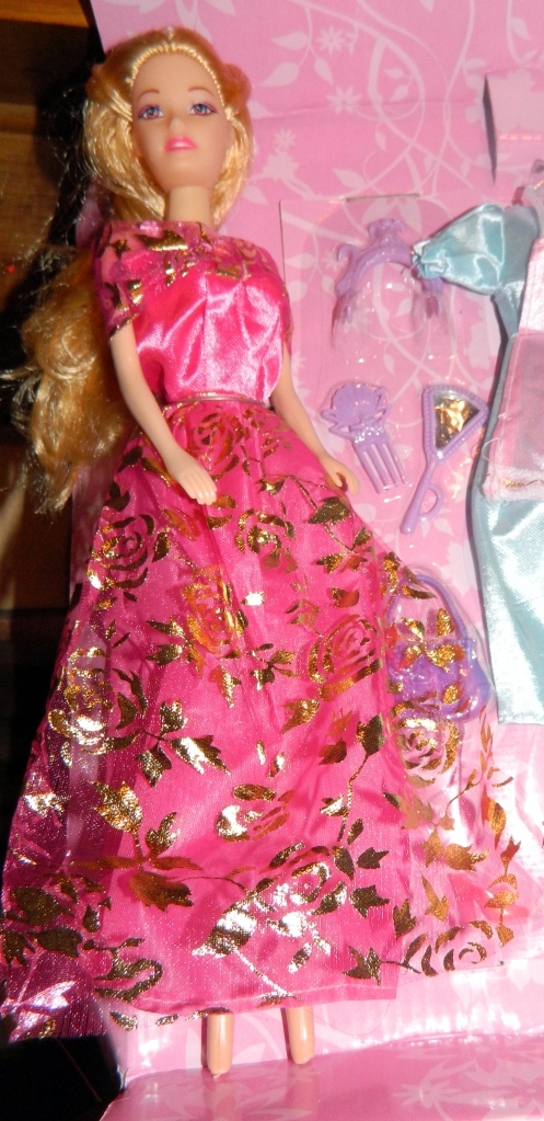 Barbie doll clone with YG marked on back of neck.