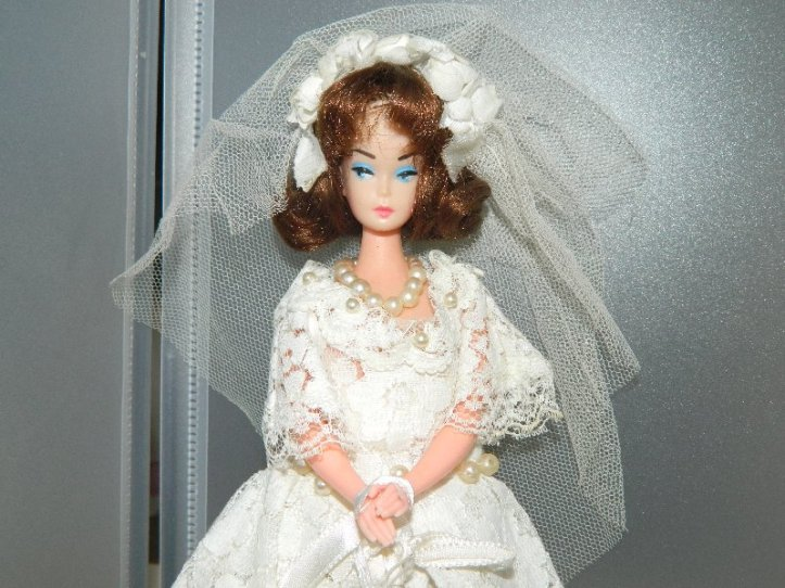 Barbie clone bride