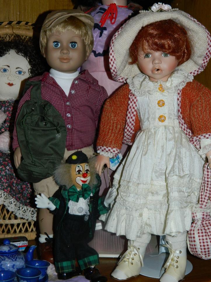 Jack and Gillian, modern dolls.