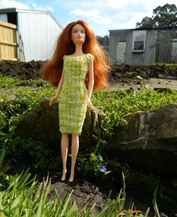 Olivia in green knit dress