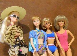 Barbies in beachwear.