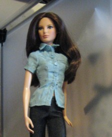 Grace in blue Fashion Fever top. Jeans are from Ellasdolls.