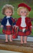 Two Scottish dolls by Roddy.
