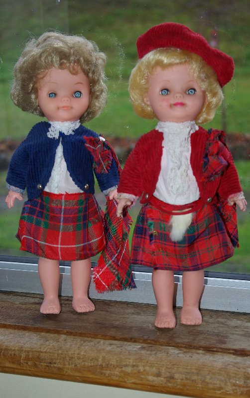 Two Scottish dolls by Roddy.