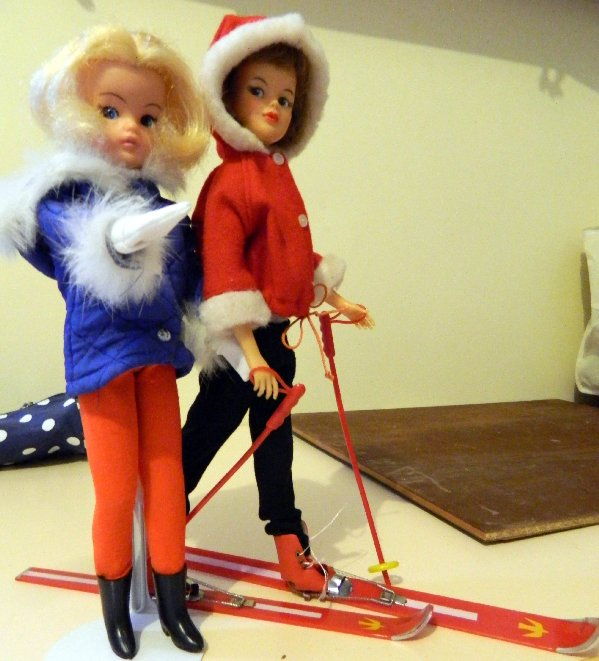 Sindy in Winter Holiday and Grown Up Tammy in Snow Bunny.