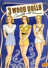 3 Wood Dolls