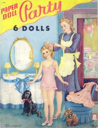 Paper Doll Party #2410 from Saalfield Publishing