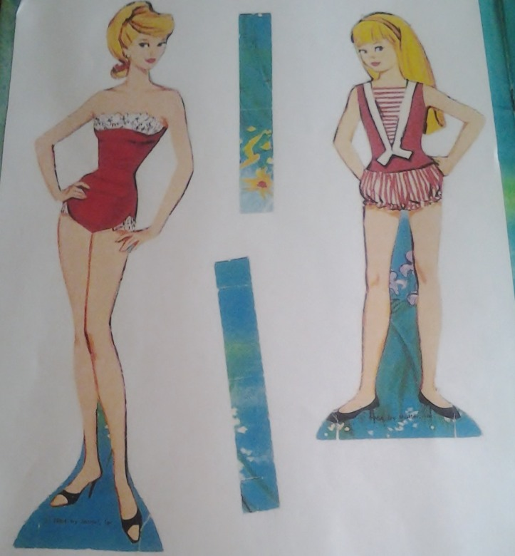Barbie and Skipper paper dolls.