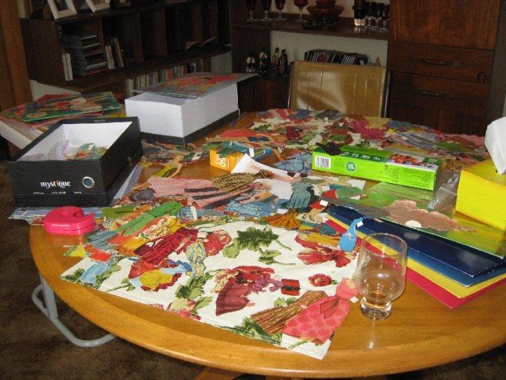Doll sorting in progress.