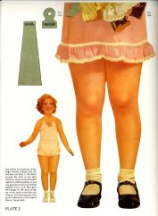 Big Shirley Temple paper doll.